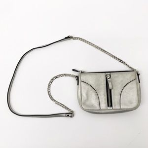Milly Silver Metallic Crossbody Purse